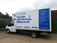 Van Hire with Working Driver